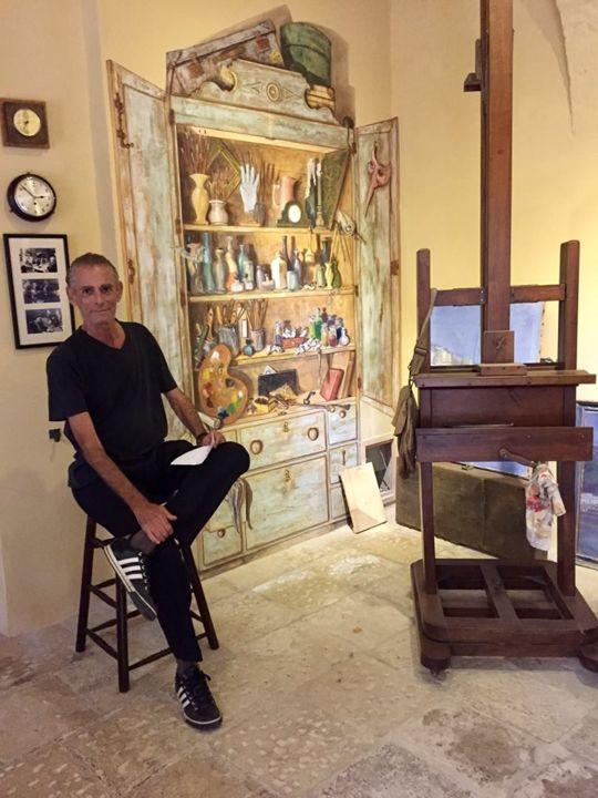 Damian Ebejer - Behind me is my trompe l'oeil artist's cupboard