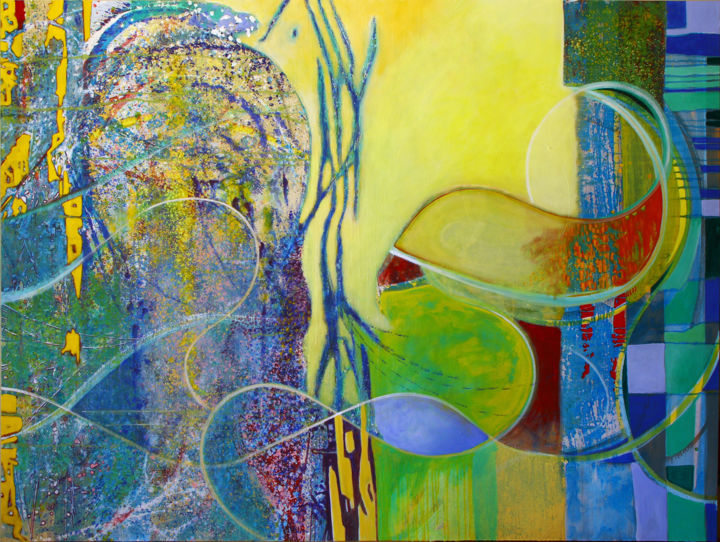 Damian Ebejer - Travels with my Cat, 150 x 200 cm.